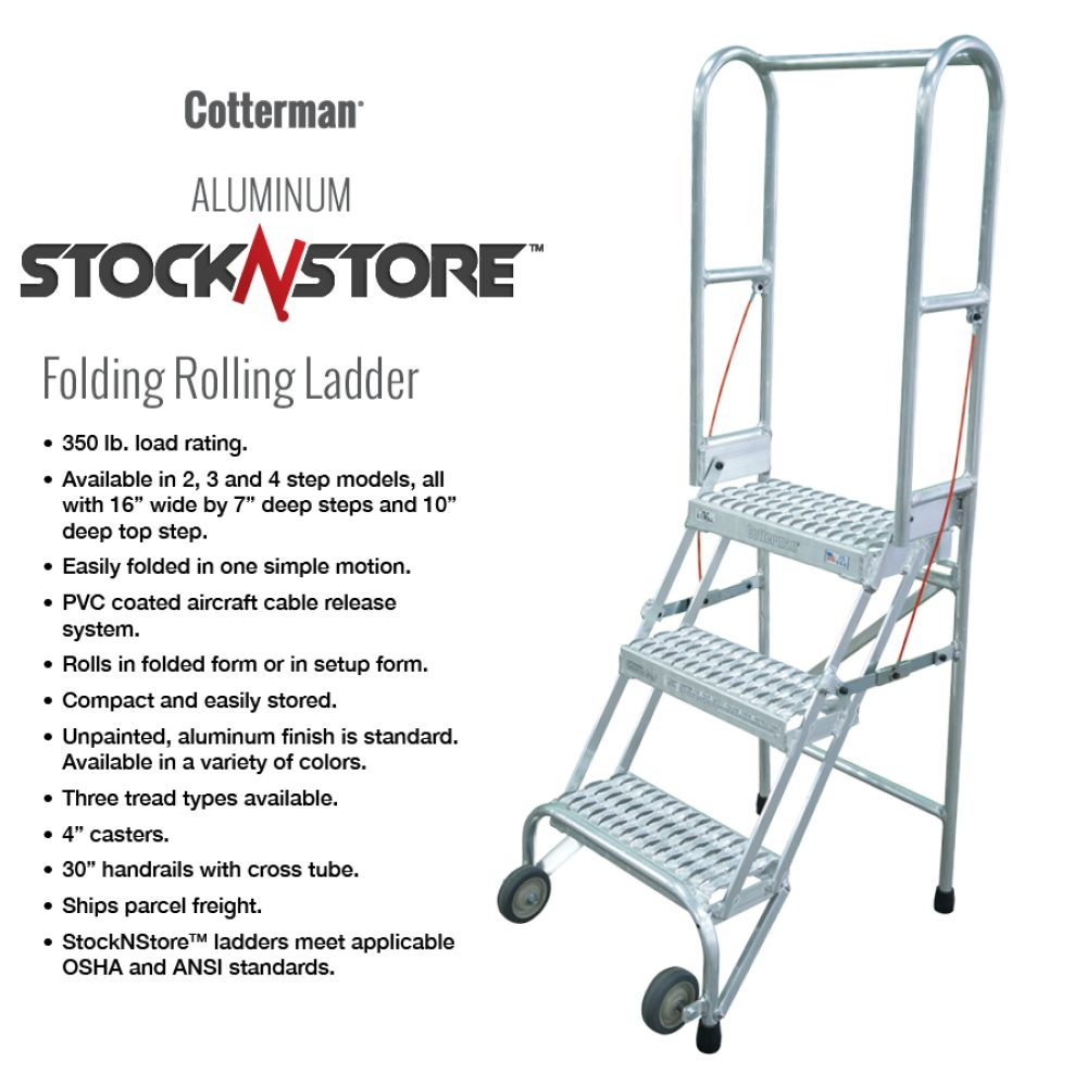 cotterman-aluminum-lightweight-stocknstore-red-rolling-metal-ladder-foldable-stock n store