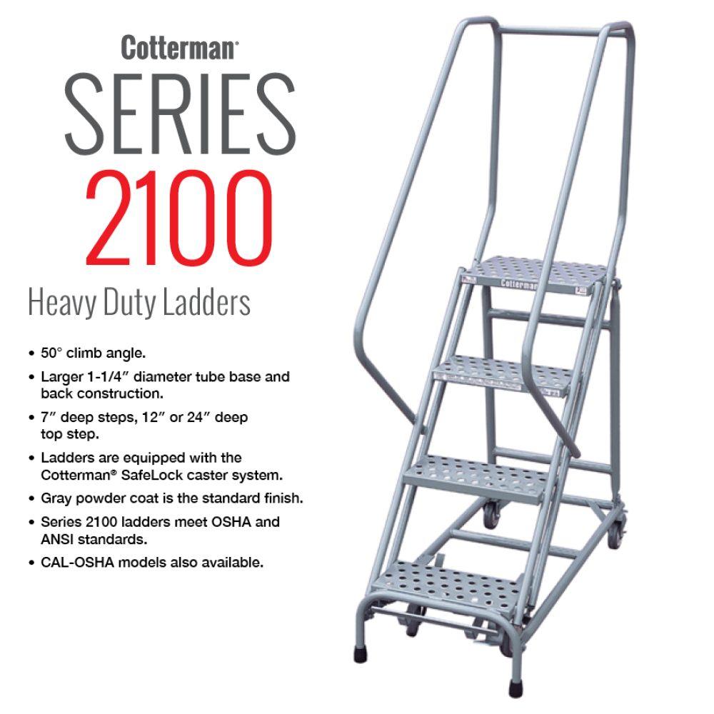 cotterman-series-2100- heavy-duty-rolling-metal-ladder