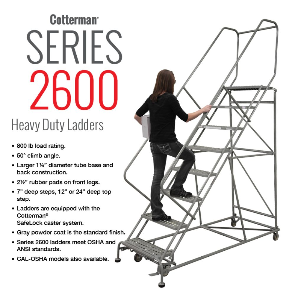 cotterman-series-2600-heavy-duty-rolling-metal-ladder-800-capacity