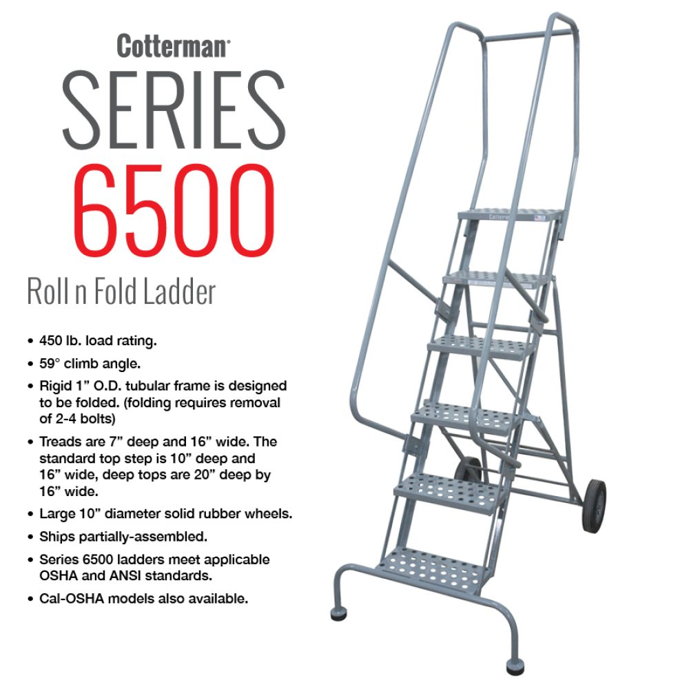 cotterman-series-6500-rolling-metal-ladder-folding-portable