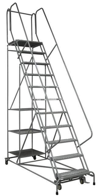 cotterman 5000 series rolling metal ladder shelves
